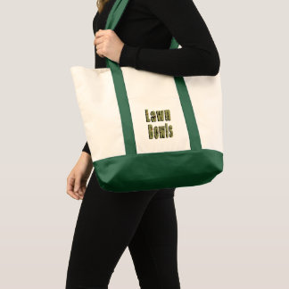Lawn Bowls Picture Logo, Tote Bag