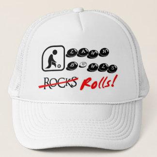 Lawn Bowls, rocks, Rolls! Trucker Hat