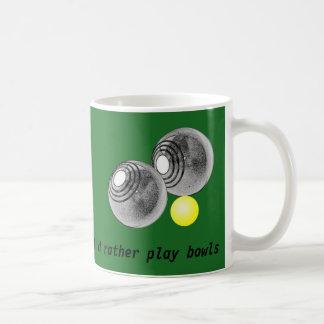 Lawn bowls, short mat bowls mug