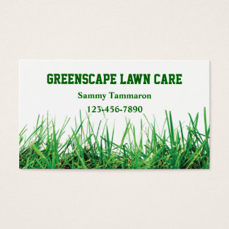 Lawn Care and Landscaping Business Card