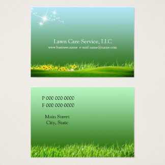 lawn care business business card