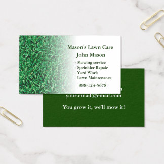 Lawn Care Landscaping Lawn Business Card