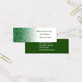 Lawn Care Landscaping Lawn Mini Business Card