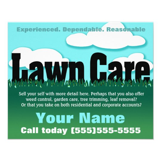 lawn care  landscaping  mowing  marketing flyer