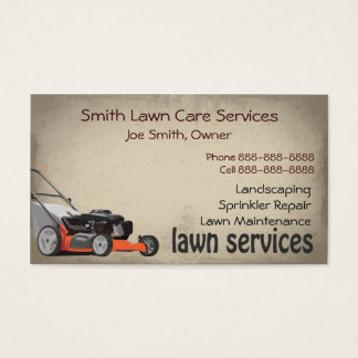 Lawn Care Landscaping Services Business Card