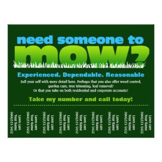 Lawn Care Mow Grass Landscaper Personalized Flyer