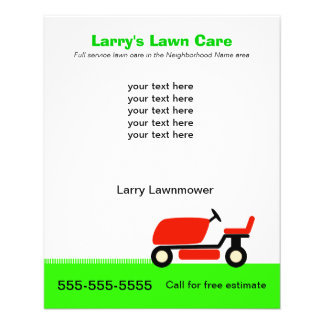 Lawn mowing promotional flyers lawn mowing promotional for Lawn treatment service