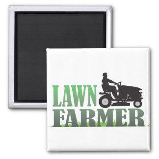 Lawn Farmer Square Magnet