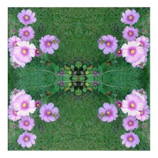 Lawn Flowers Fractal Acrylic Wall Art