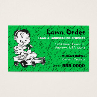 Lawn / Landscaping Service Business Card