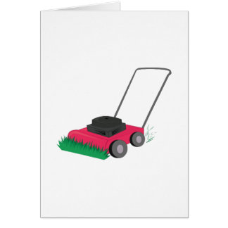 Lawn Mower Greeting Card