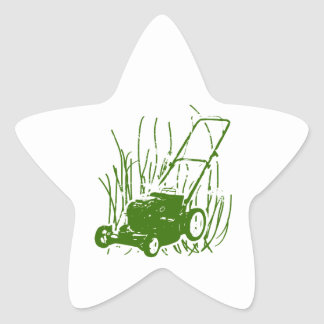 Lawn Mower Star Sticker