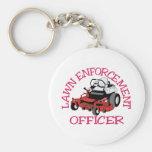Lawn Officer Basic Round Button Keychain
