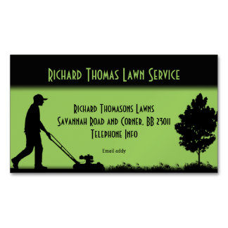 Lawn Service Landscape Magnetic Business Magnetic Business Card