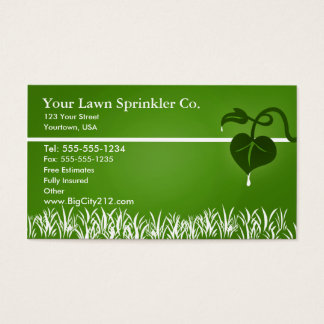 Lawn Sprinkler editable business card