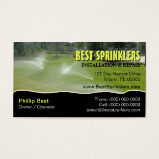Lawn Sprinkler / Landscaping Business Card