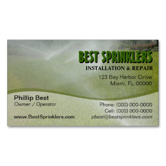 Lawn Sprinkler / Landscaping Business Card Magnet