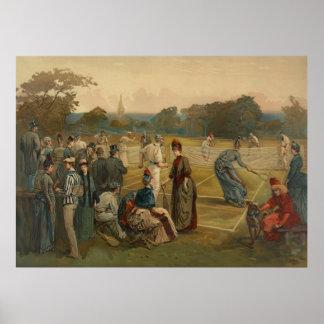 Lawn Tennis 1887 Poster