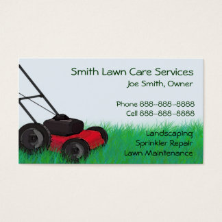 Lawn Yard Maintenance Servies Business Card