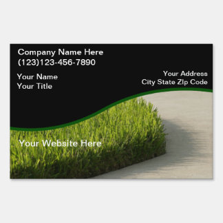 Lawn Yard SIgn Design Template