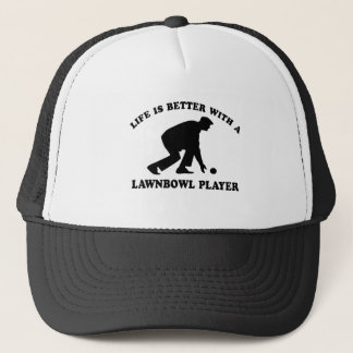 Lawnbowling vector designs trucker hat