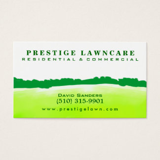 Lawncare - Landscaping Green Horizon Business Card