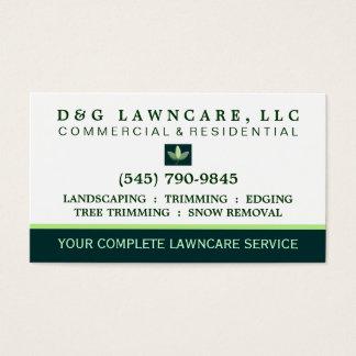 Lawncare or Landscaping Square Leaf Business Card