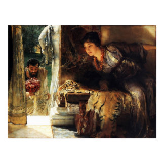 Lawrence Alma-Tadema 1883 Welcome Footsteps Postcard