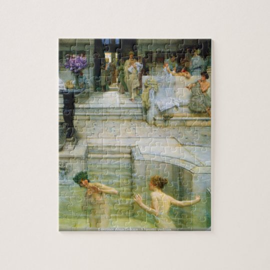 Lawrence Alma-Tadema - A favourite tradition Jigsaw Puzzle