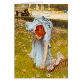 Lawrence Alma Tadema Spring in the Garden Card