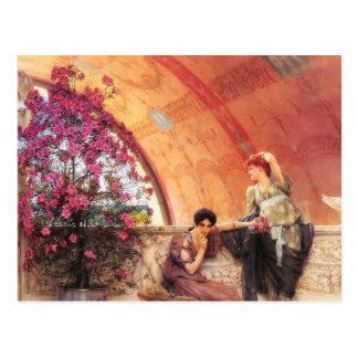 Lawrence Alma Tadema Unconscious Rivals Postcard