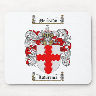 LAWRENCE FAMILY CREST -  LAWRENCE COAT OF ARMS MOUSE PAD