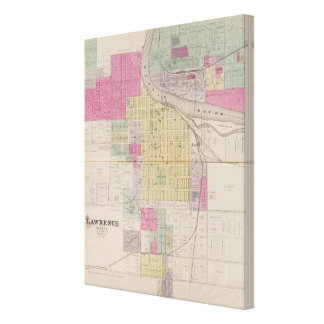 Lawrence, Kansas Stretched Canvas Print