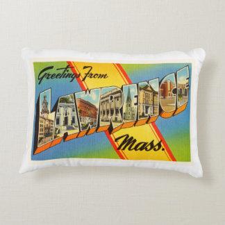 Lawrence Massachusetts MA Vintage Travel Souvenir Decorative Pillow