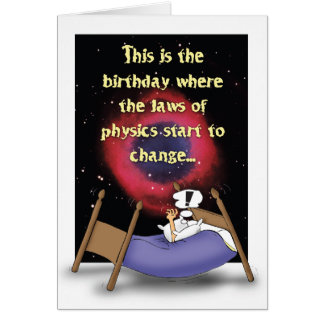 Laws of Physics Humorous Birthday Card