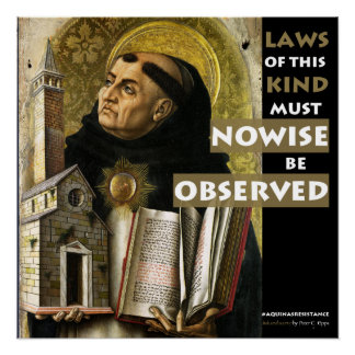 Laws of This Kind Aquinas Resistance poster