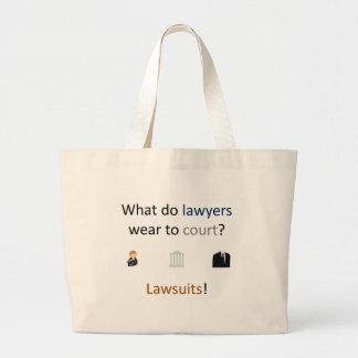 Lawsuits Joke Large Tote Bag