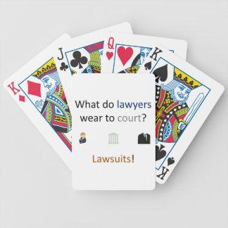 Lawsuits Joke Poker Deck
