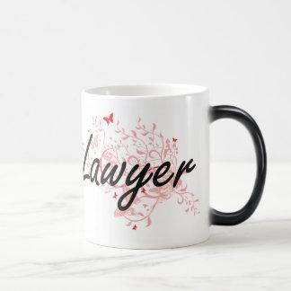Lawyer Artistic Job Design with Butterflies Magic Mug