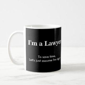 Lawyer - Assume I'm Right Basic White Mug