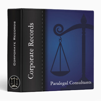 Lawyer / Attonery | Scales of Justice | Blue 3 Ring Binder