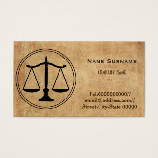 lawyer, attorney, law firm business card
