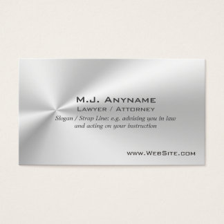 Lawyer / Attorney luxury silver-effect Business Card