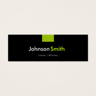 Lawyer / Attorney - Mint Green Compact Mini Business Card