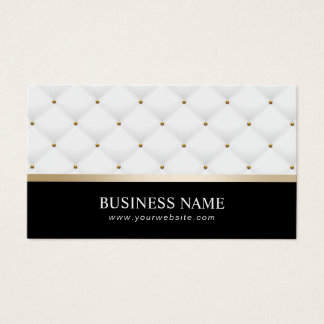 Lawyer Attorney Modern Gold Stripe Luxury Quilts Business Card