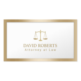 Lawyer Attorney Scale of Justice Modern Gold Foil
