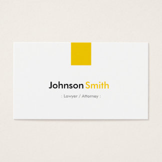 Lawyer / Attorney - Simple Amber Yellow Business Card