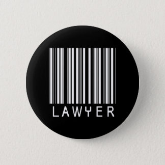 Lawyer Bar Code 2 Inch Round Button