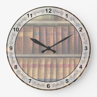 Lawyer - Books - Law books Large Clock