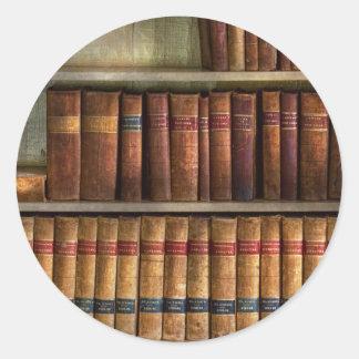 Lawyer - Books - Law books Round Sticker